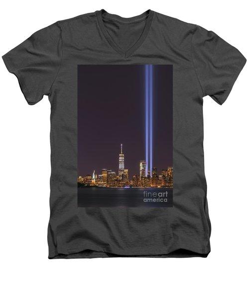 September 11th Memorial  Men's V-Neck T-Shirt