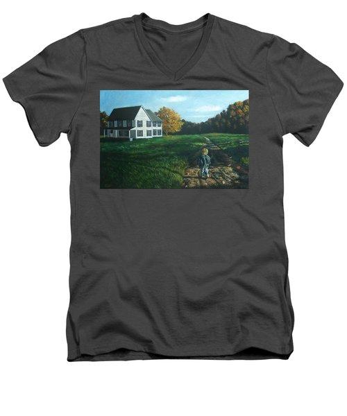 September Breeze Number 4 Men's V-Neck T-Shirt