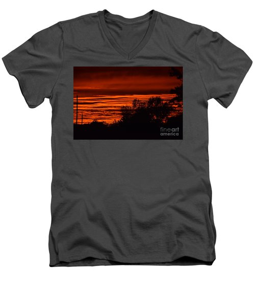 September Kansas Sunset Men's V-Neck T-Shirt