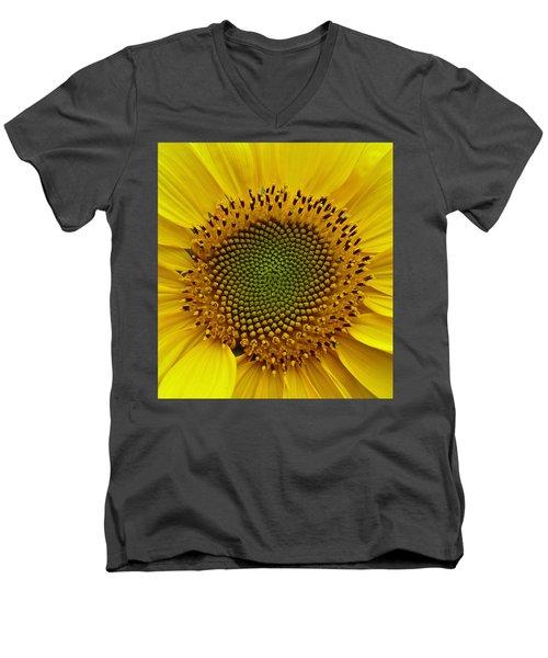 September Sunflower Men's V-Neck T-Shirt by Richard Cummings