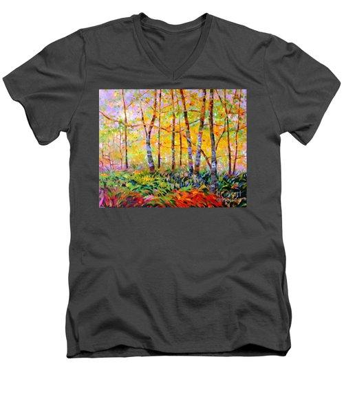 Serenade Of Forest Men's V-Neck T-Shirt