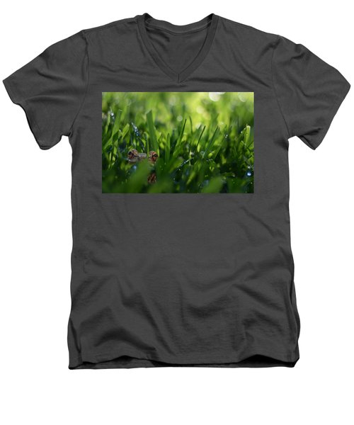 Men's V-Neck T-Shirt featuring the photograph Serendipity by Laura Fasulo
