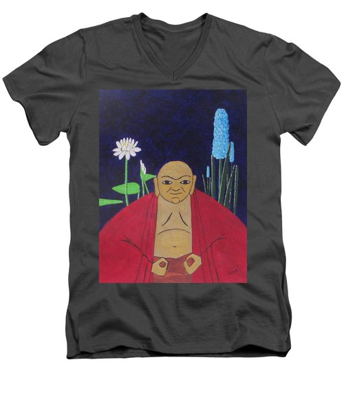 Serene Buddha Men's V-Neck T-Shirt