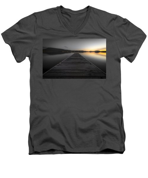 Serene Lake 2 Men's V-Neck T-Shirt