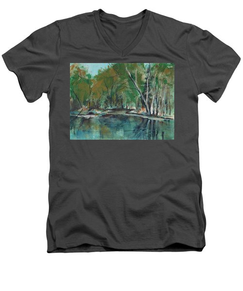 Serene Men's V-Neck T-Shirt by Lee Beuther