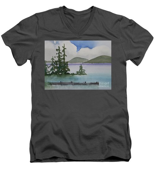 Serene Morning On Lake Superior Men's V-Neck T-Shirt