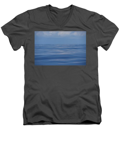 Men's V-Neck T-Shirt featuring the photograph Serene Pacific by Jennifer Ancker