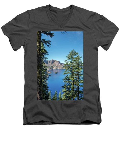 Serene Pines Men's V-Neck T-Shirt