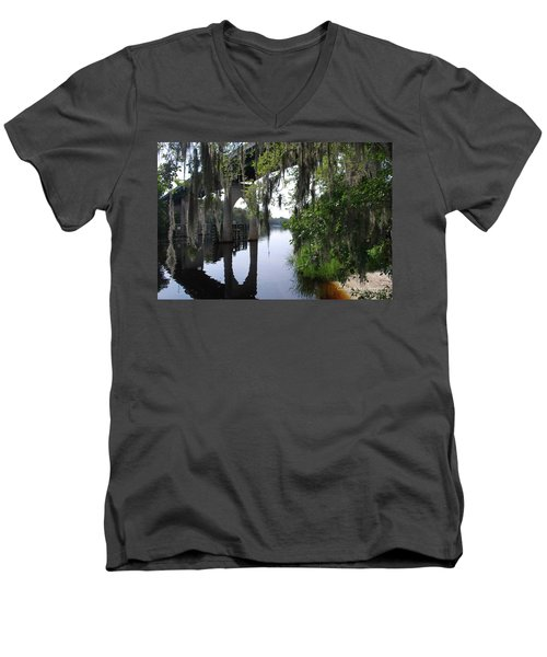 Serene River Men's V-Neck T-Shirt