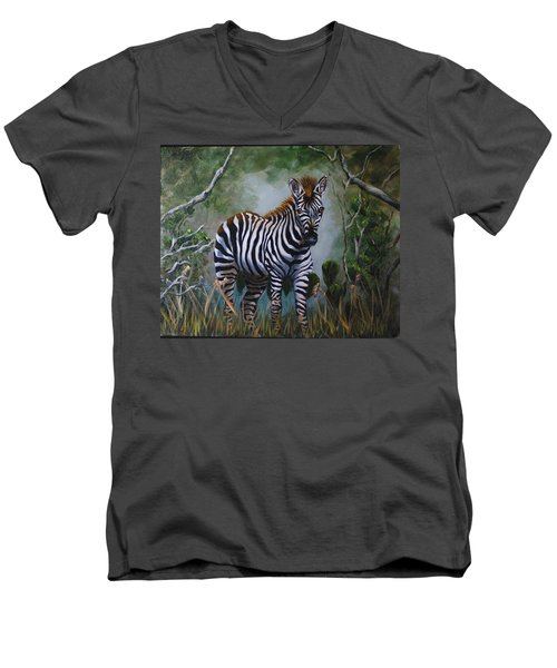 Serengeti Zebra Men's V-Neck T-Shirt