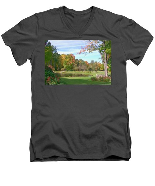 Men's V-Neck T-Shirt featuring the digital art Serenity by Barbara S Nickerson