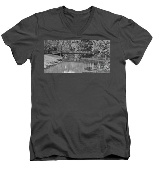 Serenity B And W Men's V-Neck T-Shirt by Ansel Price
