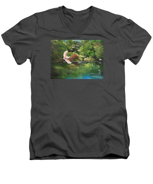Serenity Men's V-Neck T-Shirt by Carol Sweetwood