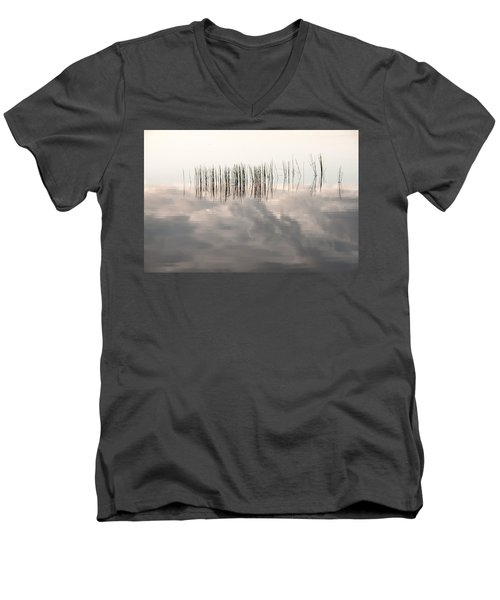 Serenity Dwells Here Where Tranquil Water Flow Cloaked  In Hues Of Love Men's V-Neck T-Shirt