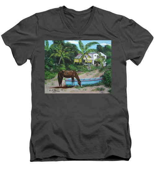 Serenity Men's V-Neck T-Shirt by Luis F Rodriguez