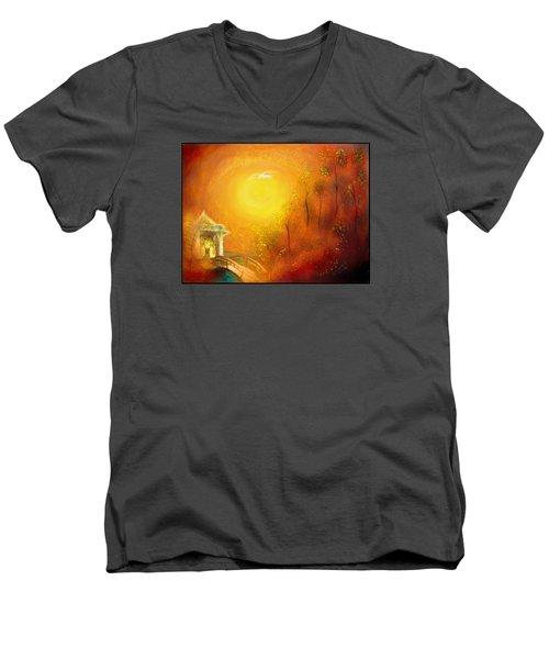 Serenity Men's V-Neck T-Shirt by Michael Cleere