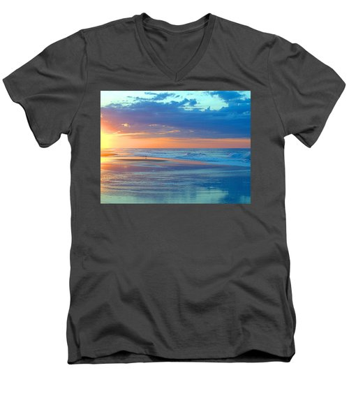 Men's V-Neck T-Shirt featuring the photograph Serenity by  Newwwman