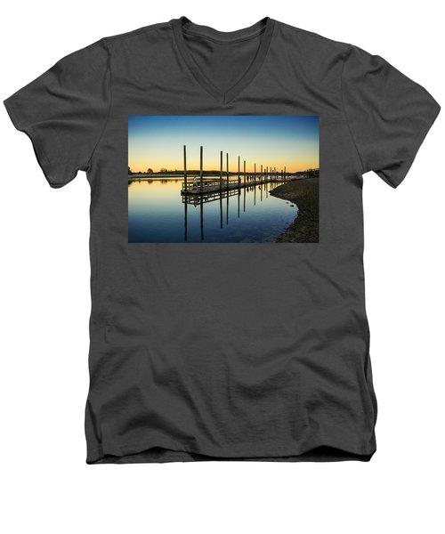 Serenity Sunset Kings Park New York Men's V-Neck T-Shirt