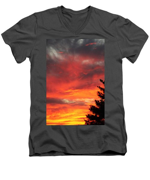Desert Sunburst Men's V-Neck T-Shirt