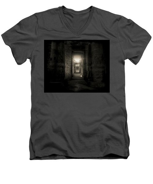 Seti I Temple Abydos Men's V-Neck T-Shirt