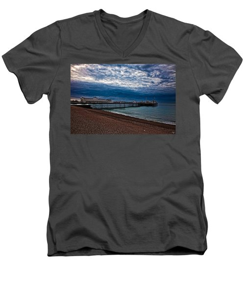 Seven Am On Brighton Seafront Men's V-Neck T-Shirt