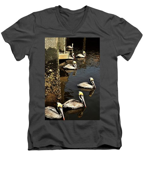 Seven Pelicans Men's V-Neck T-Shirt