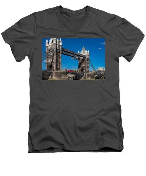 Seven Seconds - The Tower Bridge Hawker Hunter Incident  Men's V-Neck T-Shirt by Gary Eason