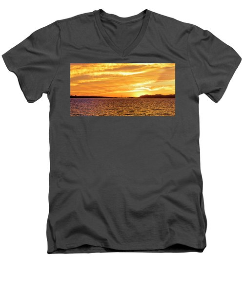 Sf Bay Area Sunset Men's V-Neck T-Shirt