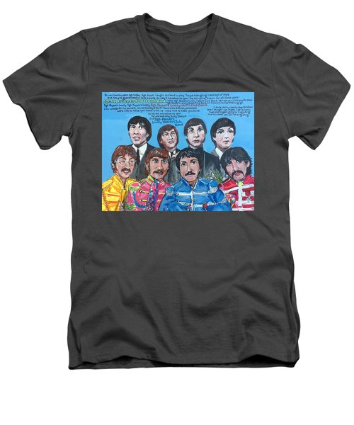 Sgt.pepper's Lonely Hearts Club Band Men's V-Neck T-Shirt