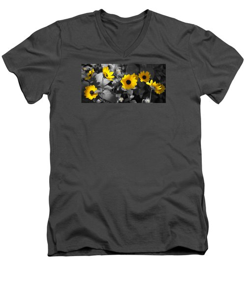 Shaded Daisies Men's V-Neck T-Shirt