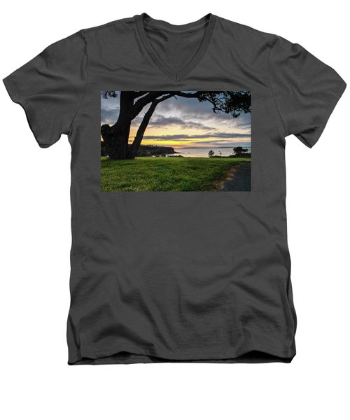 Shaded Sunrise Men's V-Neck T-Shirt
