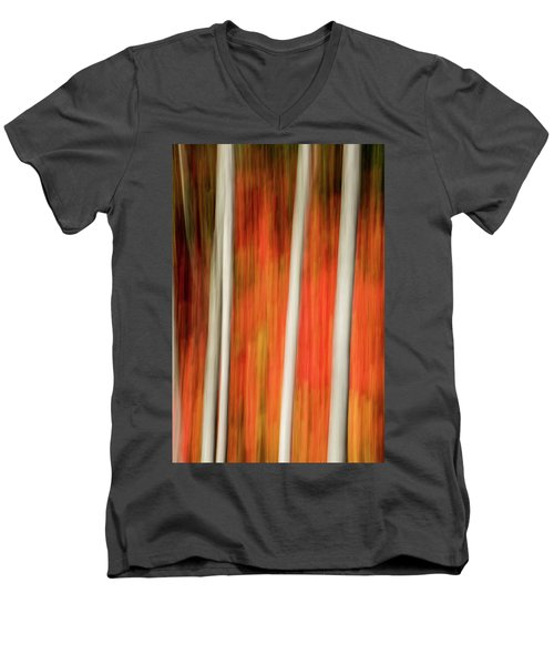 Men's V-Neck T-Shirt featuring the photograph Shades Of Amber And Marmalade  by Dustin LeFevre