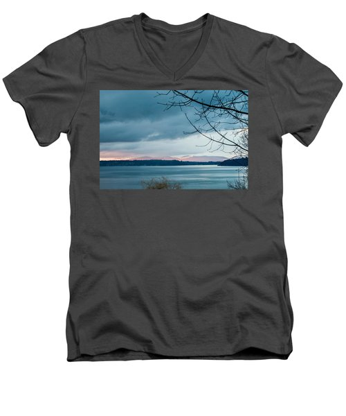 Shades Of Blue As Night Falls Men's V-Neck T-Shirt