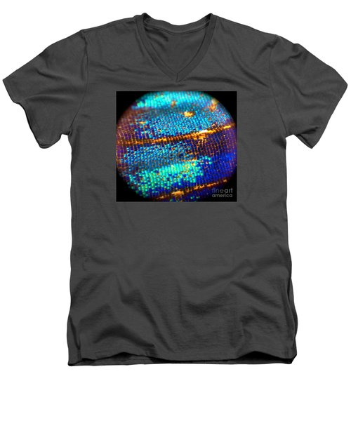Shades Of Blue Men's V-Neck T-Shirt by KD Johnson