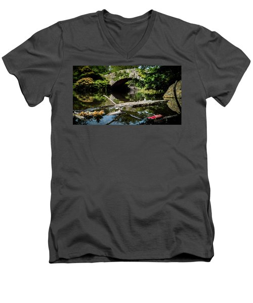 Shades Of Fall Men's V-Neck T-Shirt