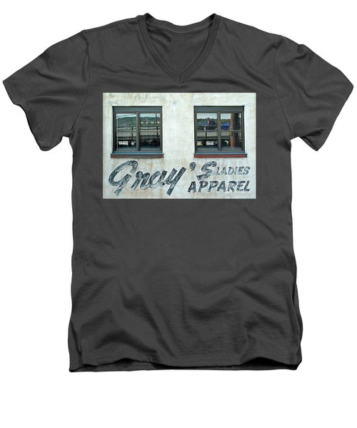 Men's V-Neck T-Shirt featuring the photograph Shades Of Gray by Ethna Gillespie