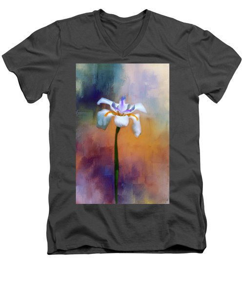 Men's V-Neck T-Shirt featuring the photograph Shades Of Iris by Carolyn Marshall