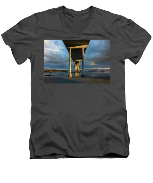 Shadow And Light Men's V-Neck T-Shirt by Joseph S Giacalone