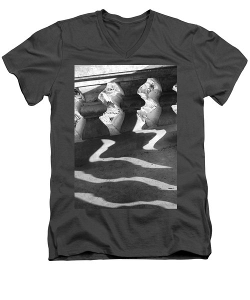 Shadow Of Railing Men's V-Neck T-Shirt