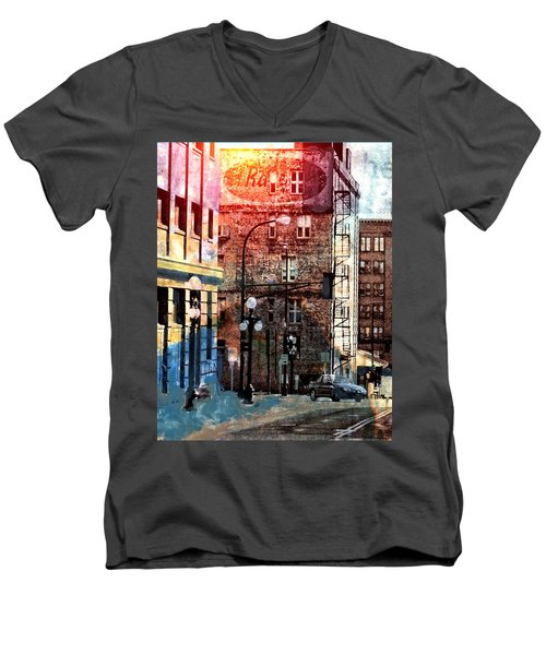 Shadow On St. Paul Men's V-Neck T-Shirt by Susan Stone