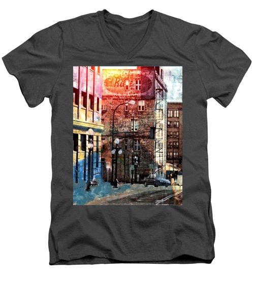 Shadow On St. Paul Men's V-Neck T-Shirt