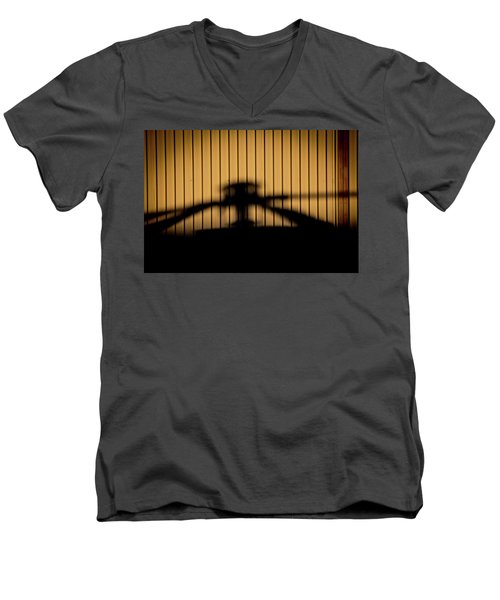 Men's V-Neck T-Shirt featuring the photograph Shadow Rotor by Paul Job