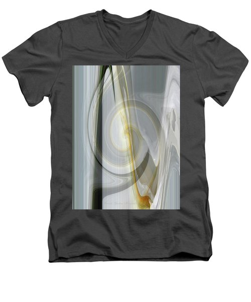 Shadows And Light - Iris Abstract - Manipulated Photography Men's V-Neck T-Shirt