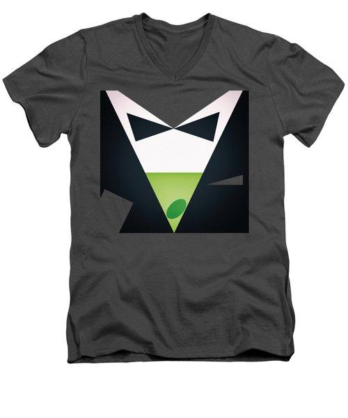Shaken, Not Stirred Men's V-Neck T-Shirt by Jirka Svetlik