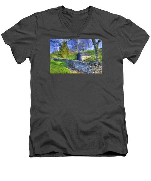 Shaker Stone Wall 6 Men's V-Neck T-Shirt
