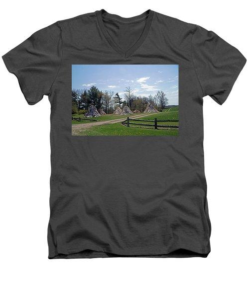 Shaker Teepees? Men's V-Neck T-Shirt by Judy Johnson