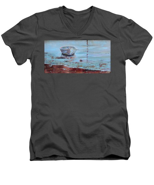Shallow Tether Men's V-Neck T-Shirt by Trina Teele