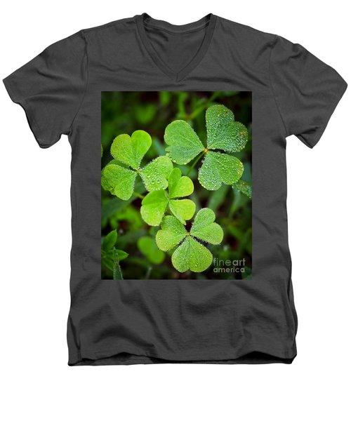 Shamrock Green Men's V-Neck T-Shirt