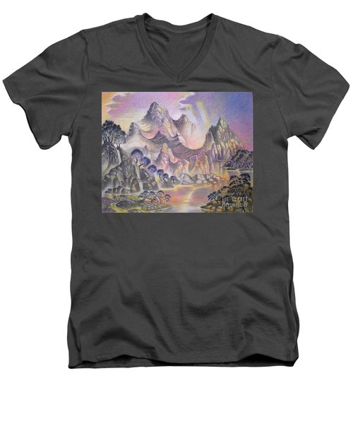 Shangri La Men's V-Neck T-Shirt