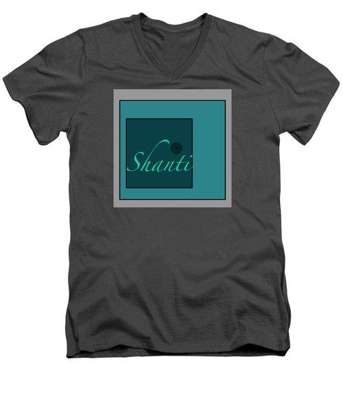 Shanti In Blue Men's V-Neck T-Shirt